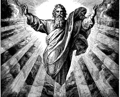 """Woodcut for """"Die Bibel in Bildern"""", 1860."""