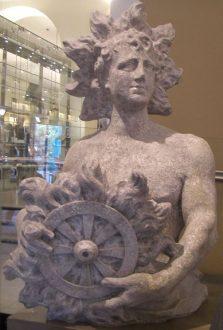 A statue of the Saxon (Germanic) sun god Sunna