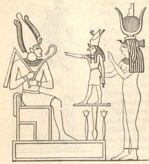 The Mythological Trinity Or Triad Osiris Horus Isis
