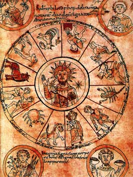 Christ at the center of the medieval zodiac